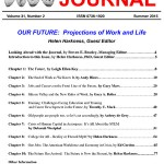 Our Future: Projections of Work and Life – Career Planning & Adult Development Journal Summary – Summer 2015